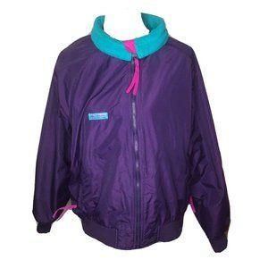 Columbia Medium Nylon Purple Windbreaker Jacket